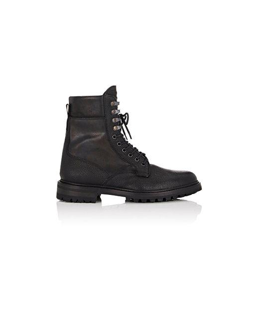 Rag & Bone | Black Spencer Leather Commando Boots | Lyst