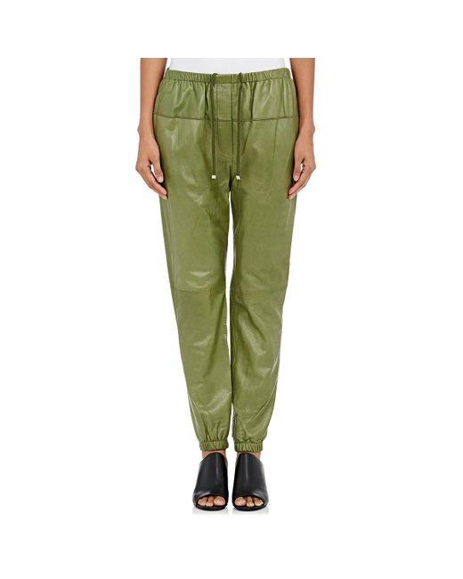 Simple Women Geometric Snowflake Print Jogger Pants Size Medium M  Green