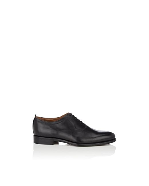 Barneys New York - Black Leather Balmorals for Men - Lyst