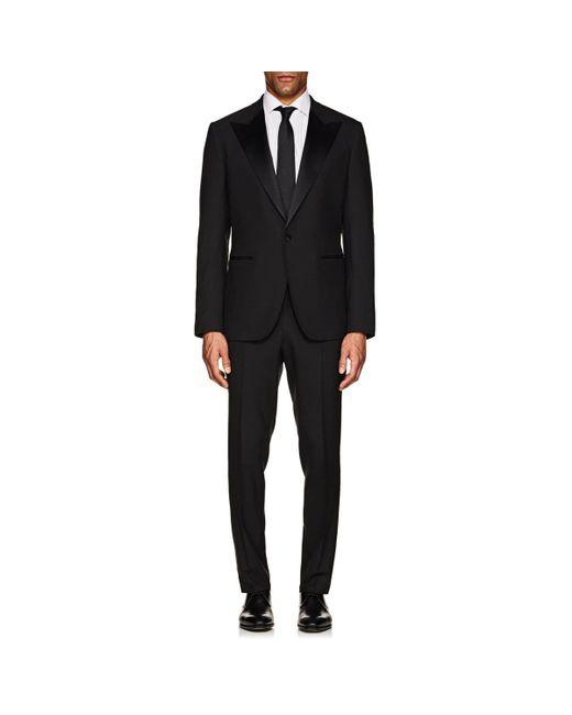 Barneys New York Black Wool One-button Tuxedo for men