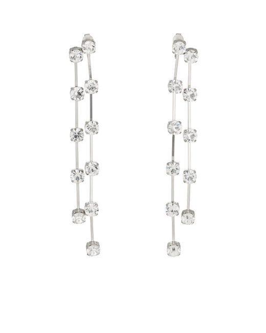 Kenneth Jay Lane - Metallic Crystal-embellished Drop Earrings - Lyst