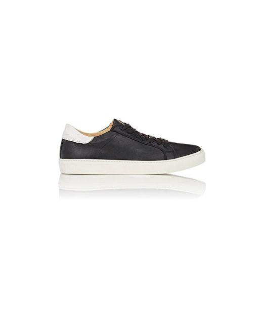 Barneys New York - Black Leather Low for Men - Lyst