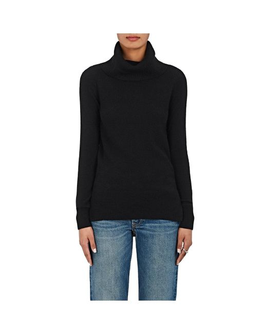Barneys New York | Black Cashmere Cowlneck Sweater | Lyst