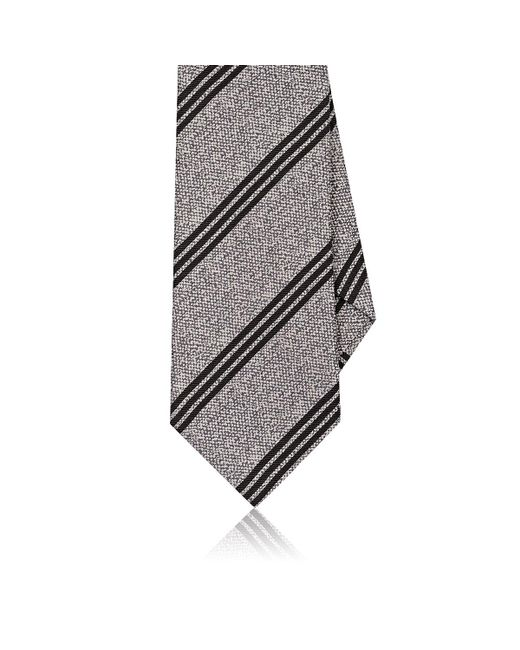 Eidos | Gray Striped Silk Jacquard Necktie for Men | Lyst