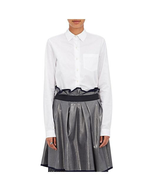 Kolor - White Cotton Ruffle Shirt - Lyst