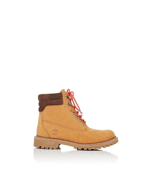 Timberland Brown Bny Sole Series: Nubuck Lace-up Boots for men