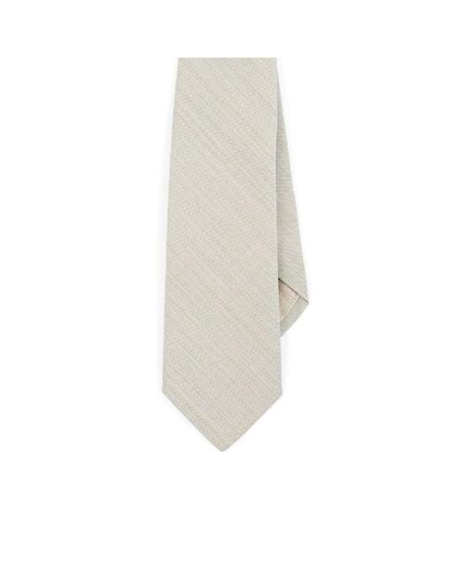 Paolo Albizzati Natural Wool Plain-weave Necktie for men