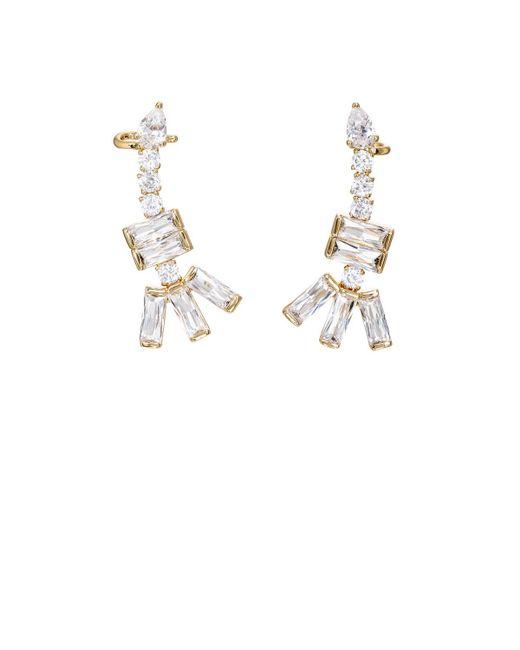 Fallon | Metallic Zig Zag Earrings | Lyst