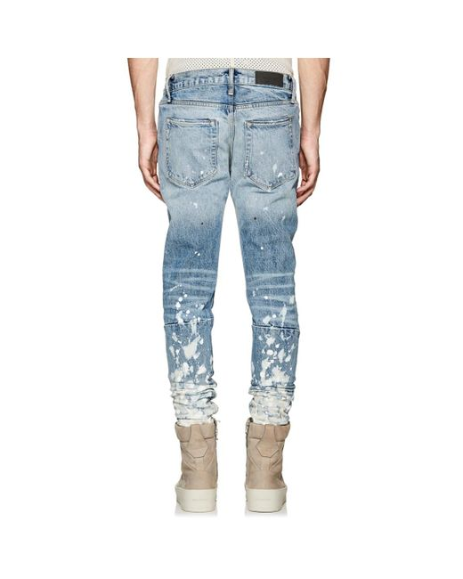 bdc454e5 ... Fear Of God - Blue Painters Distressed Slim Jeans for Men - Lyst ...