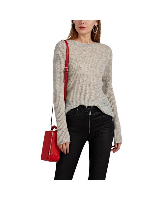 Rag & Bone Gray Donna Ribbed Mohair-blend Sweater