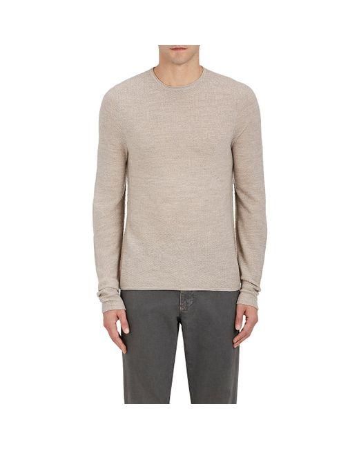 Piattelli - Natural Merino Wool Crewneck Sweater for Men - Lyst