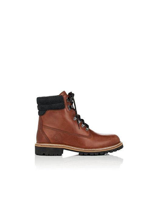 Timberland Brown Bny Sole Series: Burnished Leather Lace-up Boots for men