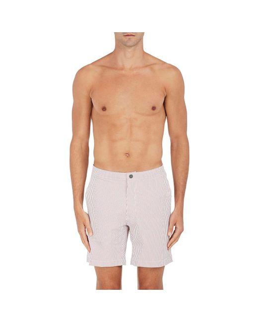 Onia | Red Calder Swim Trunks for Men | Lyst