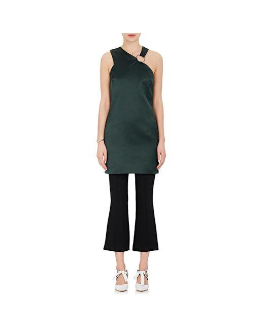 Nomia - Green Satin Halter Minidress - Lyst
