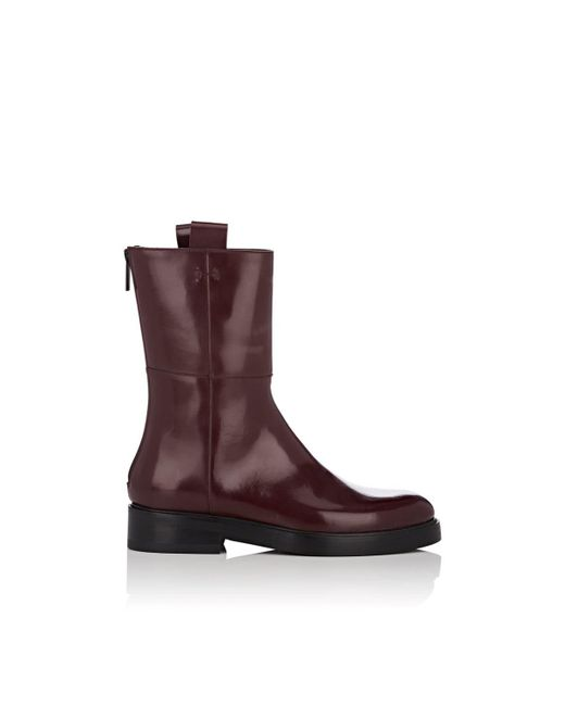 Alumnae - Red Leather Ankle Boots - Lyst