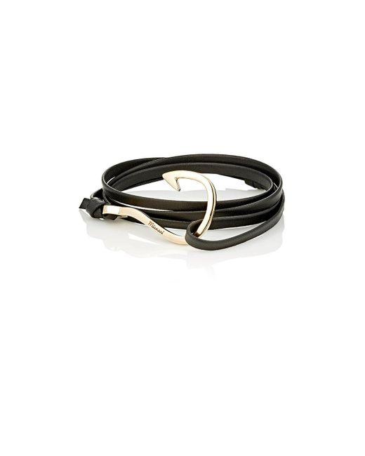 Miansai | Metallic Hook On Leather Wrap Bracelet | Lyst