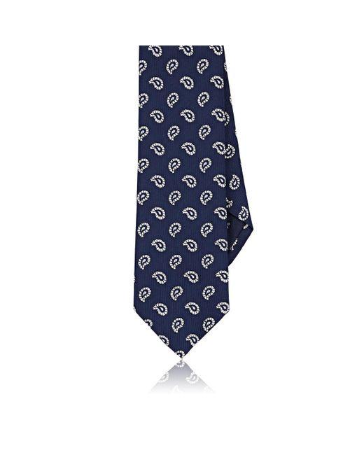 Paolo Albizzati - Blue Paisley Silk Faille Necktie for Men - Lyst