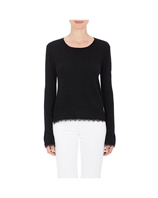 Skin | Black Lace-trimmed Wool | Lyst