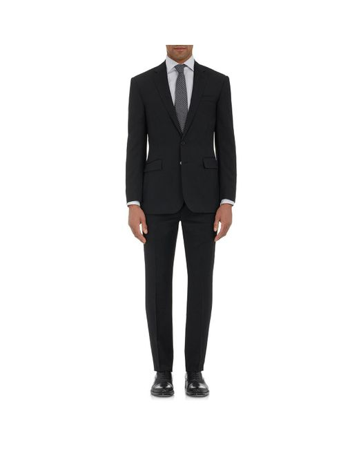 Ralph Lauren Purple Label Black Anthony Wool Two-button Suit for men