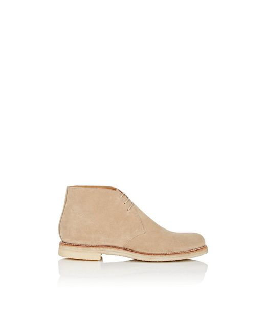 GRENSON - Natural Oscar Suede Chukka Boots for Men - Lyst