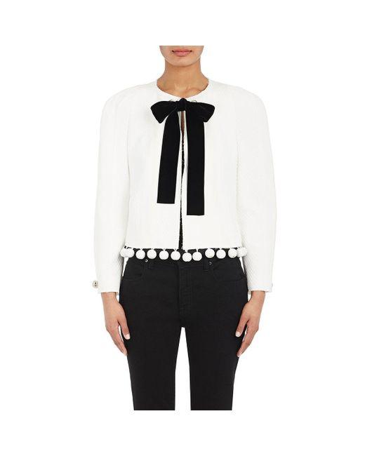 Proenza Schouler | White Embellished Jacquard Crop Jacket | Lyst