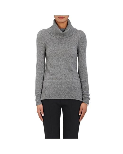 Barneys New York | Gray Cashmere Cowlneck Sweater | Lyst