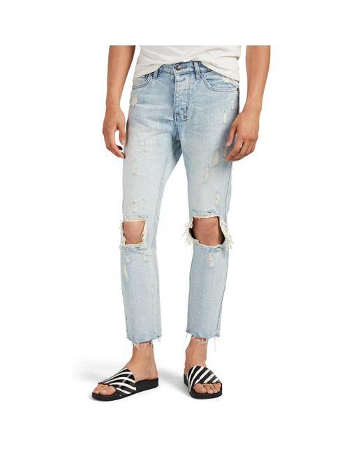 Ksubi Blue Chitch Chop Distressed Slim Jeans for men