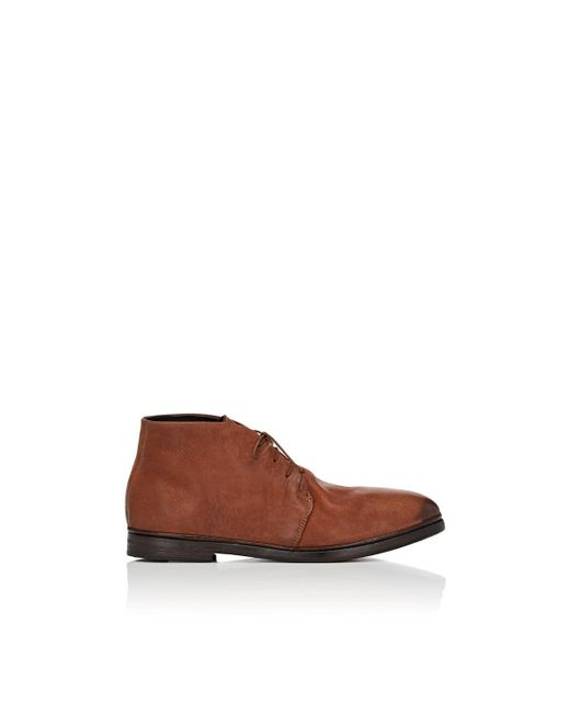 Elia Maurizi - Brown Burnished Leather Chukka Boots for Men - Lyst
