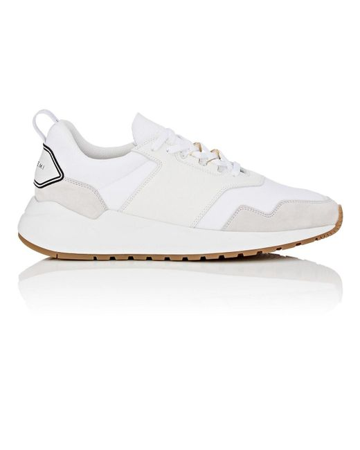 Buscemi White Ventura Neoprene & Leather Sneakers for men