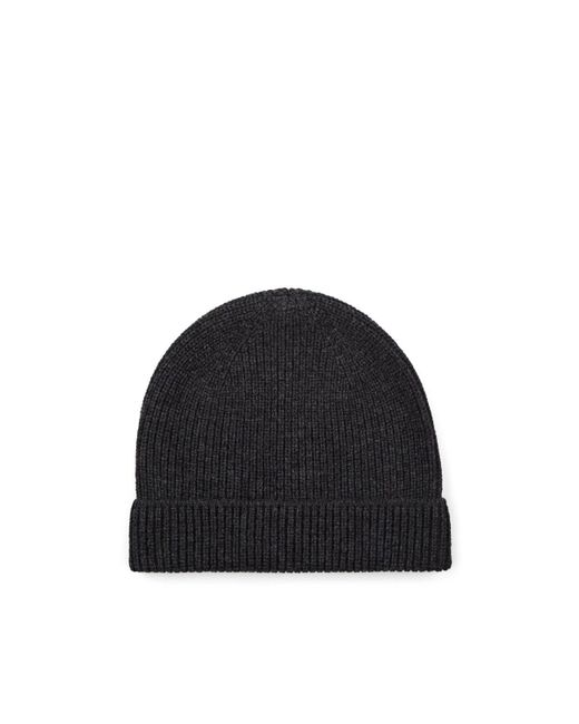 Barneys New York Gray Rib-knit Wool-cashmere Beanie for men