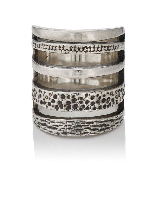 Pamela Love   Metallic Sterling Silver Cage Ring   Lyst