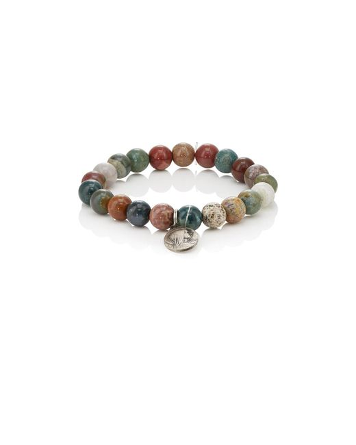 MI by Miracle Icons | Metallic Vintage Charms On Beaded Bracelet | Lyst