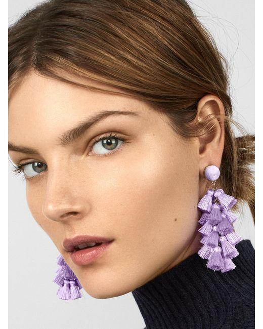 BaubleBar - Purple Contessa Tassel Earrings - Lyst