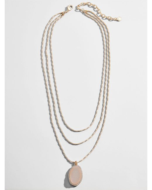 BaubleBar - Multicolor Moonstone Layered Necklace - Lyst