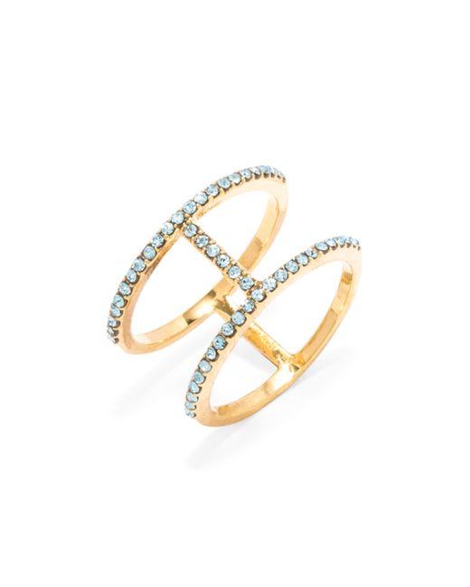 BaubleBar | Metallic Pavé T Ring | Lyst