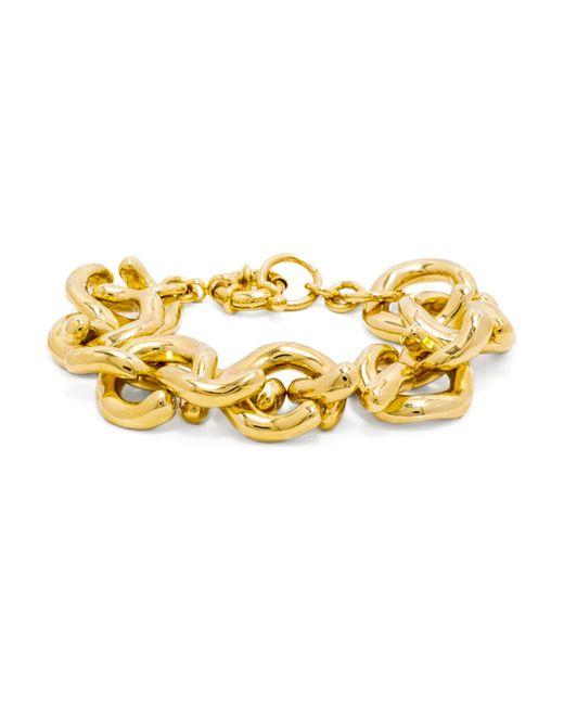 BaubleBar | Metallic Gold Mary Links Bracelet | Lyst