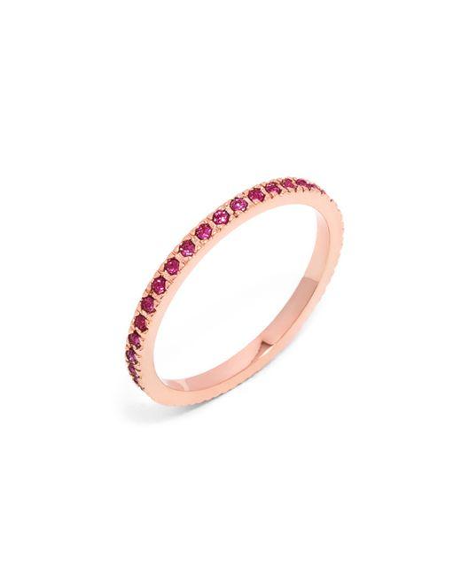 BaubleBar | Pink Pavé Eternity Ring | Lyst