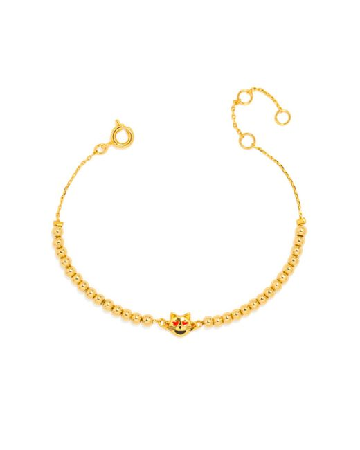BaubleBar | Metallic Lovestruck Kitty Emoticharm Bracelet | Lyst