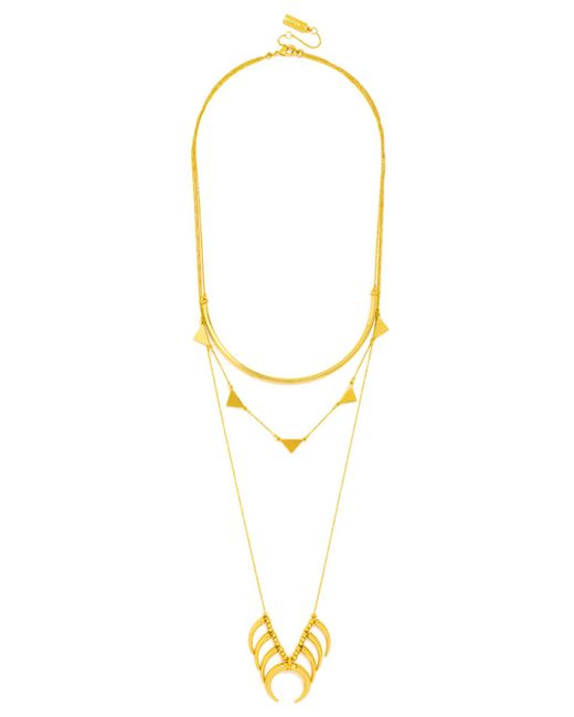 BaubleBar | Metallic Native Tiered Necklace | Lyst
