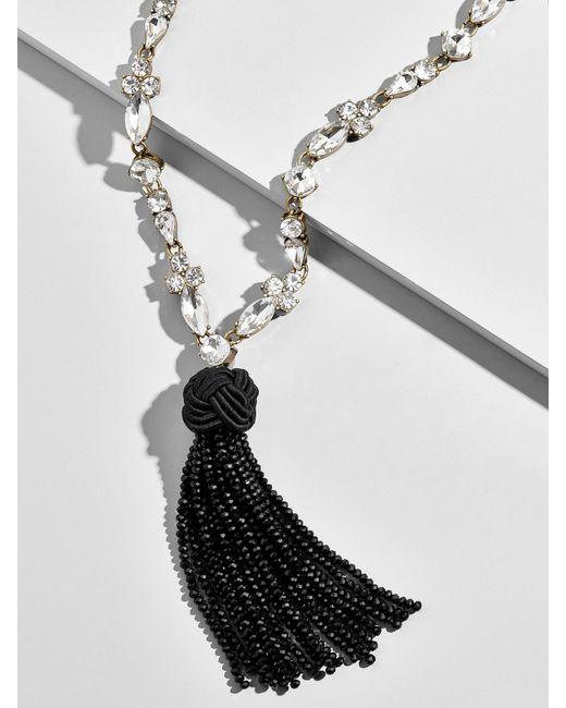 BaubleBar - Black Ivaleine Tassel Pendant Necklace - Lyst
