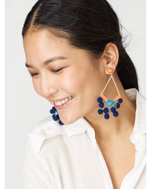 BaubleBar   Blue Solange Pom Pom Earrings   Lyst