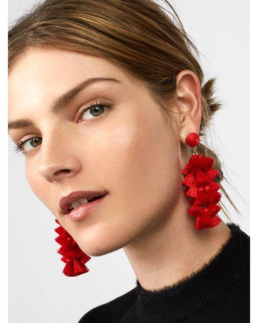BaubleBar - Red Contessa Tassel Earrings - Lyst