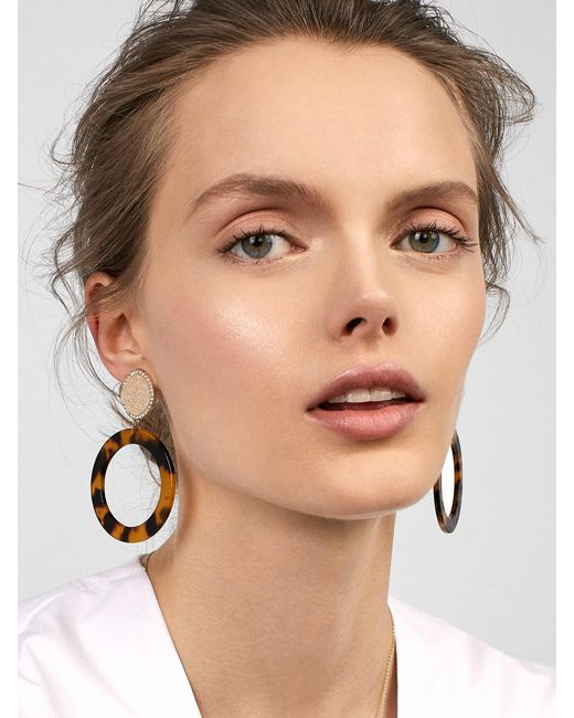 BaubleBar - Brown Devinne Drop Earrings - Lyst