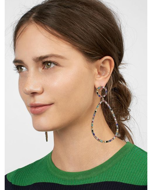 BaubleBar - Blue Genevieve Hoop Earrings - Lyst
