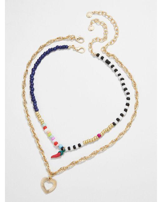 BaubleBar Metallic Nicoleta Necklace Set Of 2