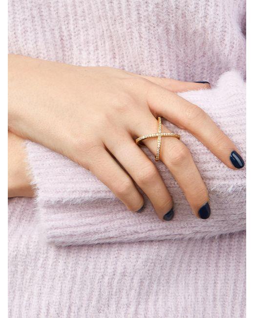 BaubleBar - Metallic Crystal Mason Ring - Lyst