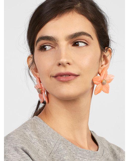 BaubleBar - Black Adelissa Flower Resin Earrings - Lyst