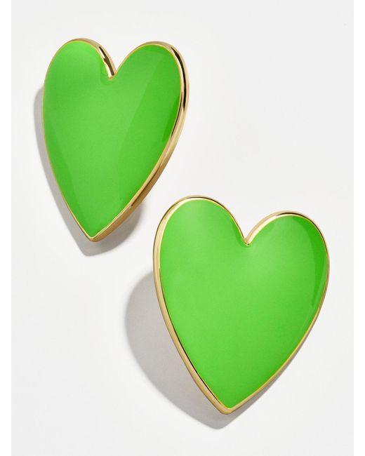 BaubleBar - Green Nellia Heart Stud Earrings - Lyst