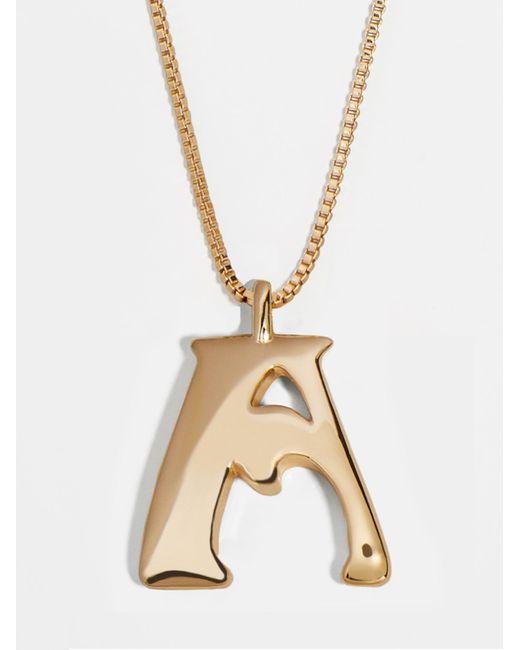 BaubleBar Metallic Angela Initial Pendant Necklace
