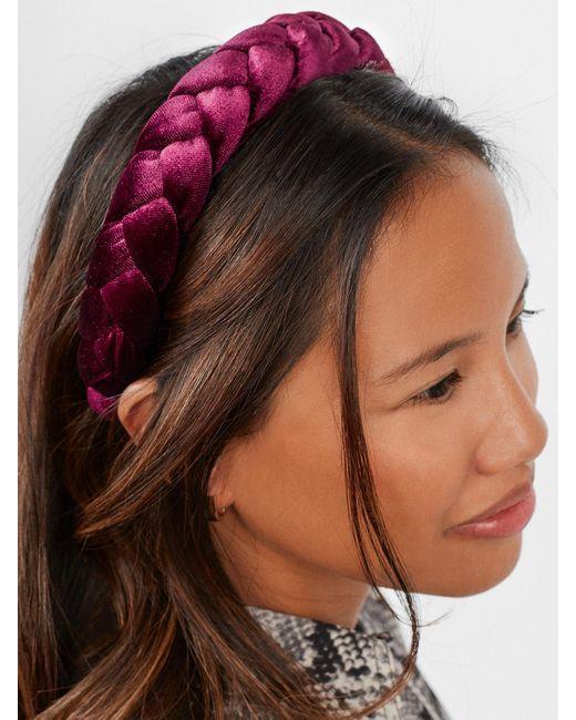 Baublebar Velvet Kimberly Headband In Berry Purple Lyst